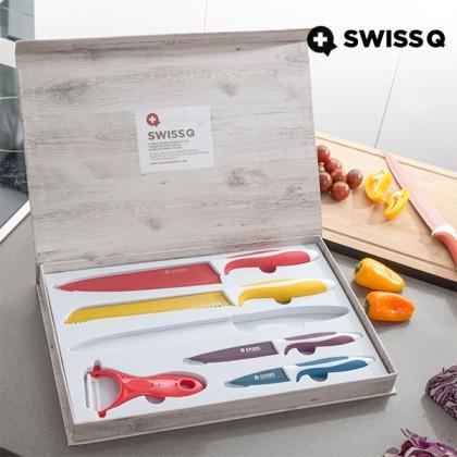Set Cuțite Înveliș Ceramică Swiss Q (6Buc)