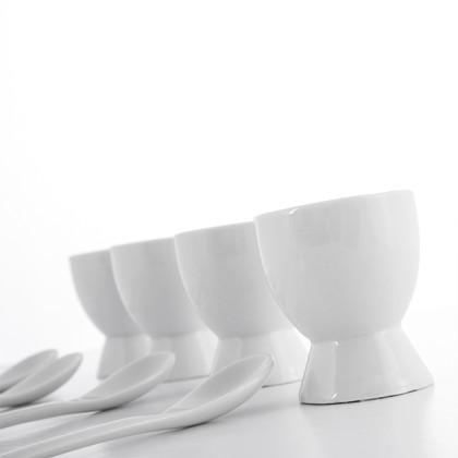 Cupe pentru Ouă cu Lingurițe (8 bucăți)