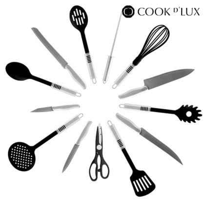 Ustensile de Bucătărie cu Temporizator şi Organizator Cook D'Lux (24 piese)