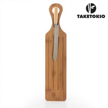 Planșetă și Cuțit pentru Tăiat Pâine Bamboo TakeTokio