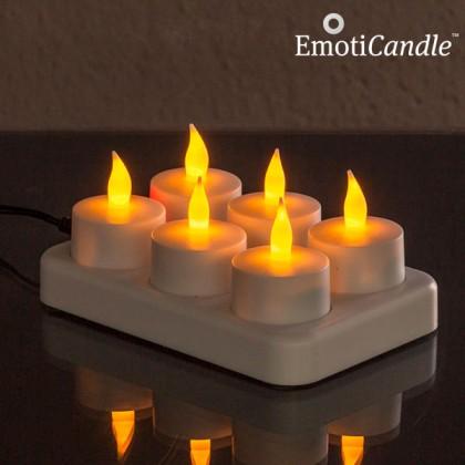 Lumânări Reîncărcabile cu LED EmotiCandle (pachet de 6)
