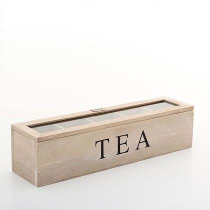 Cutie pentru Ceai din Lemn Vintage