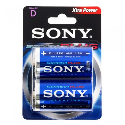 Baterii Alcaline Stamina Plus Sony D LR20 1,5V AM1 (pachet de 2)