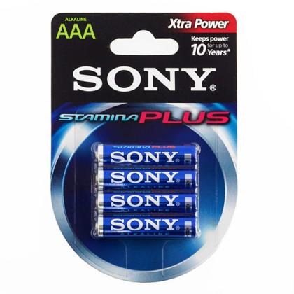 Baterii Alcaline Sony Plus AAA LR03 1.5V AM4 (pachet de 4)