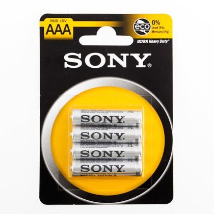 Baterii Saline Ultra Sony R03 AAA 1,5V (pachet de 4)