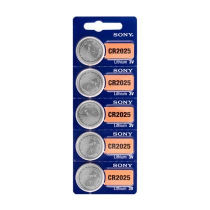 Baterii Buton cu Litiu Sony CR2025 3V (pachet de 5)