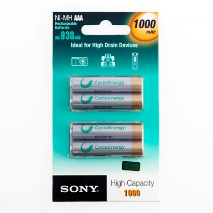 Baterii Reîncărcabile Sony Ni-MH AAA 1000 mA 1,2V (pachet de 4)