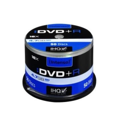 Intenso DVD+R 4.7GB 16x Cutie 50unități