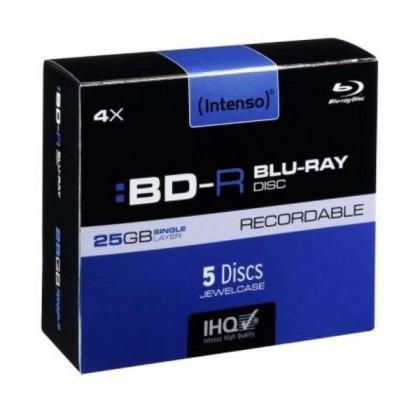 Intenso BD-R Blu-Ray 4x 25GB Pachet 5Unități
