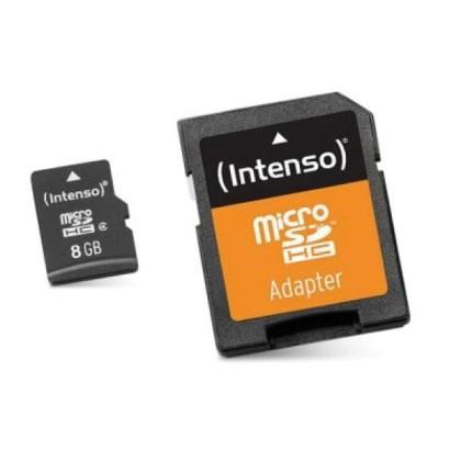 Intenso 3413460 Micro SD Tip 10 8GB c/adapt