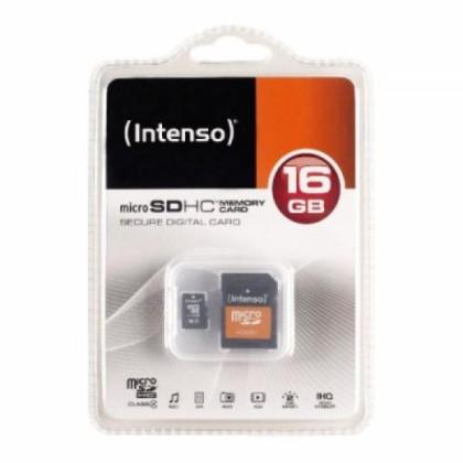 Intenso 3413470 Micro SD Tip 10 16GB c/adapt