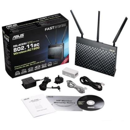 ASUS DSL-AC68U Router ADSL2+ AC1900 4P 3xUSB 3.0