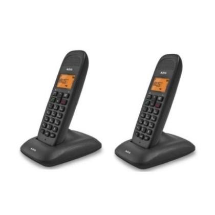 AEG VOXTEL D-80 TWIN Telefon DECT Duo AG50 LCD ECO Negru