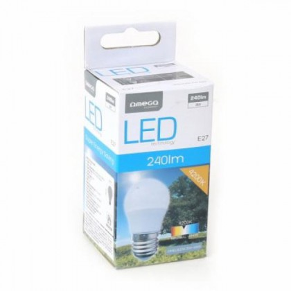 Bec LED Omega Rotund E27 3W 240lm Natural