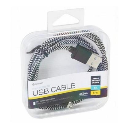 PLATINET PÂNZĂ CABLU micoUSB-USB 1M Cutie Neagră