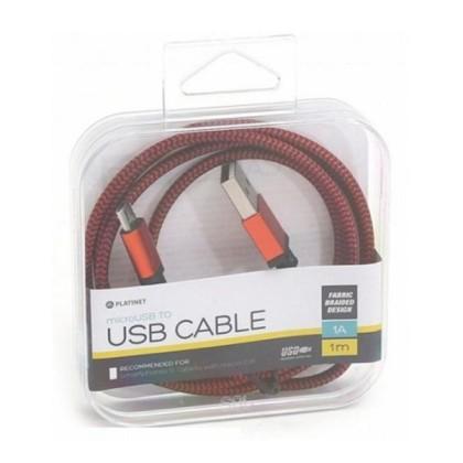 PLATINET CABLU Plasă microUSB-USB 1M Cutie Roșu