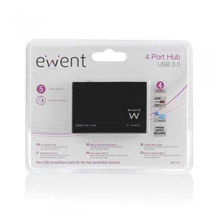 EMINENT-EWENT EW1131 Hub 4 USB porturi 3.0 Negru