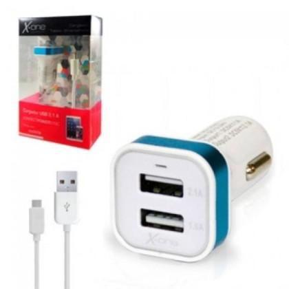 X-One USB Încărcător de Mașină 1A/2,1A + CABLU USB
