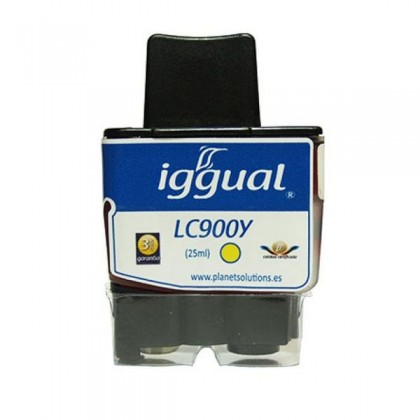 iggual Cartuș de Cerneală Reciclat Brother LC900Y galben