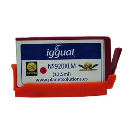 iggual Cartuș de Cerneală Reciclat HP Nº 920XL CD973A purpuriu
