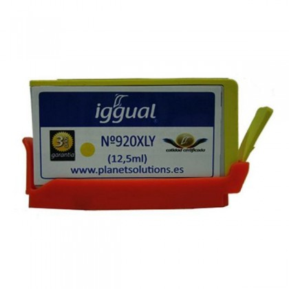 iggual Cartuș de Cerneală Reciclat HP Nº 920XL CD974A galben