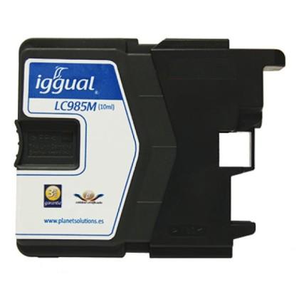 iggual Cartuș de Cerneală Reciclat Brother LC985M purpuriu