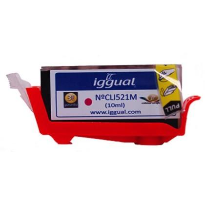 iggual Cartuș de Cerneală Reciclat Canon CLI521M purpuriu