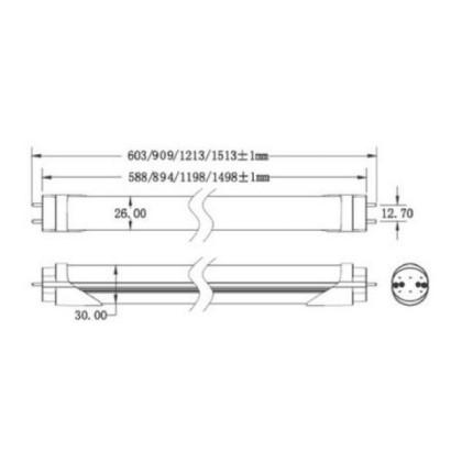 Tomaleds Tub LED G13 14W 90cm 2700k cald