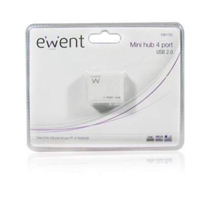 EMINENT-EWENT EW1125 Hub Mini 4 USB2 porturi Alb