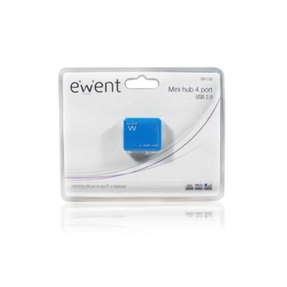 EMINENT-EWENT EW1126 Hub Mini 4 USB2 porturi Albastru