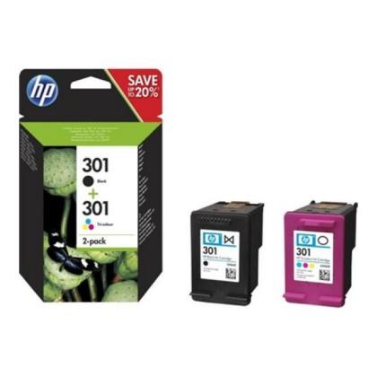 HP MultiPachet 1x301 Negru + 1x301 color