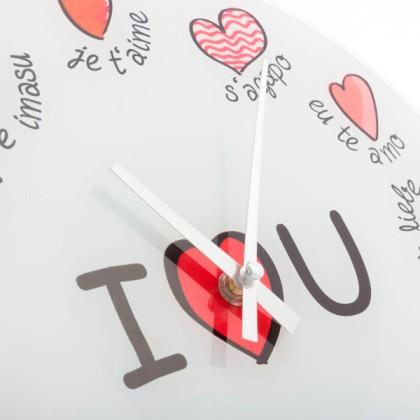 Ceas de Perete Multilingv I Love You