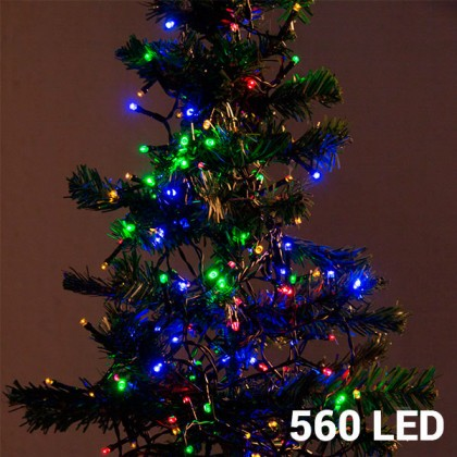Lumini de Crăciun Multicolore (560 LED)