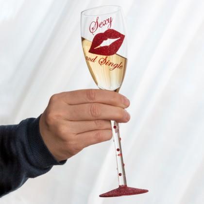 Cupă de Șampanie Sexy and Single