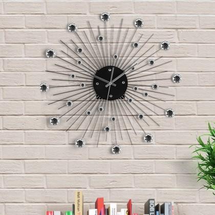 Ceas de perete metal & cristal