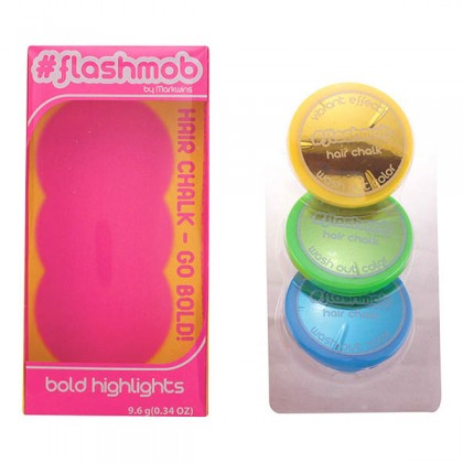 Flashmob - LIVE WIRED HAIR CHALK HIGHLIGHTS CASE  chilled 3 pz