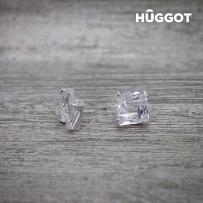 Cercei Placaţi cu Rodiu cu Zirconii Ice Hûggot