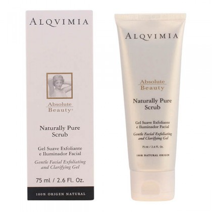 Alqvimia - ABSOLUTE BEAUTY naturally pure scrub gentle facial gel 75 ml