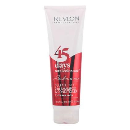 Revlon - 45 DAYS 2in1 shampoo & conditioner for brave reds 275 ml