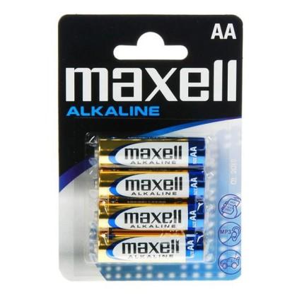 Maxell Baterie Alcalină 1.5V Tipo AA Pachet de 4