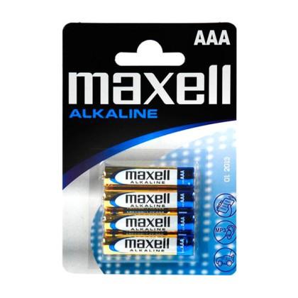 Maxell Baterie Alcalină 1.5V Tipo AAA Pachet de 4