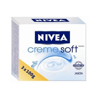 Nivea - CREME SOFT jabonES LOTE 3 pz