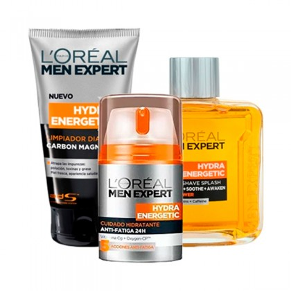 L'Oreal Make Up - MEN EXPERT HYDRA ENERGETIC LOTE 3 pz
