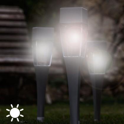 Lampă Solară Pătrată Torță (pachet de 4)
