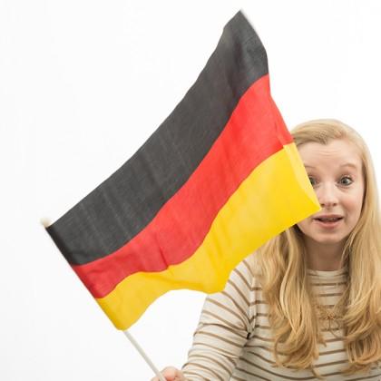 Steagul Germaniei cu Catarg (46 x 30 cm)