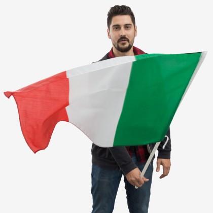 Steagul Italiei cu Catarg (90 x 60 cm)