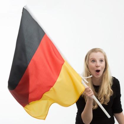 Steagul Germaniei cu Catarg (90 x 60 cm)