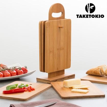 Set de Planșete de Bucătărie din Bambus cu Suport TakeTokio (7 piese)