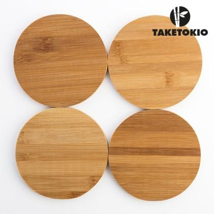 Set de Suporturi pentru Pahare din Bambus TakeTokio (set de 4)