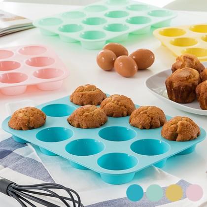 Matriţă din Silicon pentru 12 Cupcakes